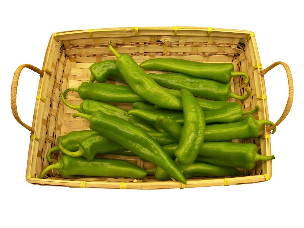 Bild grüne Peperoni-Schoten